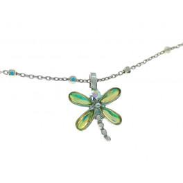 Colgante libélula plata...