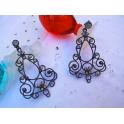 Imagen Pendientes plata envejecida creados con Crystales de Swarovski®