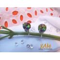 Imagen Irresistibles pendientes en plata rodiada, creados con Crystales de Swarovski®