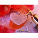 Imagen Colgante corazón plata día Cáncer de Mama creado con Crystales de Swarovski®