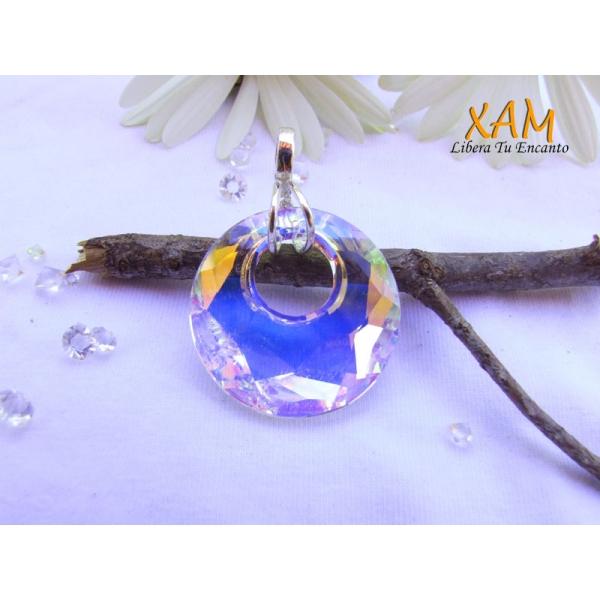 Pendientes de aro en plata creados con crystales de for Bano de rodio precio