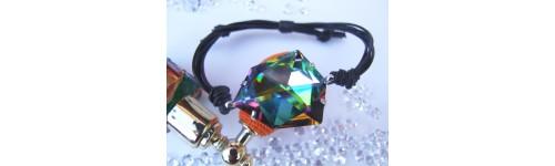 Pulseras en plata de ley y rodio, creadas con Crystales de Swarovski o circonitas.