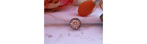 Colgantes brillantes plata y rodio creados con Crystales Swarovski o circonitas