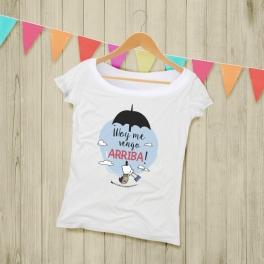 """Camiseta Mujer """"Me Vengo Ariiba"""""""