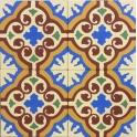 Imagen Baldosa Hidráulica Diseño Floral