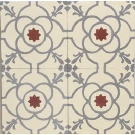Baldosa Hidráulica Diseño Floral