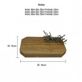 TABLA DE COCINA EN MADERA DE OLIVO MOD. ARGUIÑANO 40x25x3,5