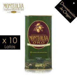 Aceite de Oliva Virgen Extra Monteoliva Oro Lata 1 L.