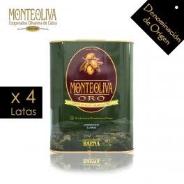 Aceite de Oliva Virgen Extra Monteoliva Oro Lata 3 L.