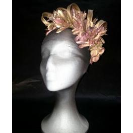 Corona media de hortensias