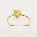 Imagen Sortija en oro amarillo con forma de flor