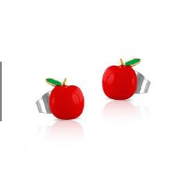 Pendientes manzana esmaltados