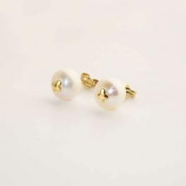 Pendiente de perla de 8mm...