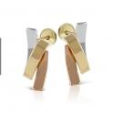 Imagen Pendientes de oro tricolor