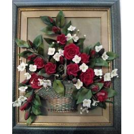 Cuadro de flores rojas,...